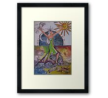 The Elements, Earth, Air, Fire, Water Framed Print