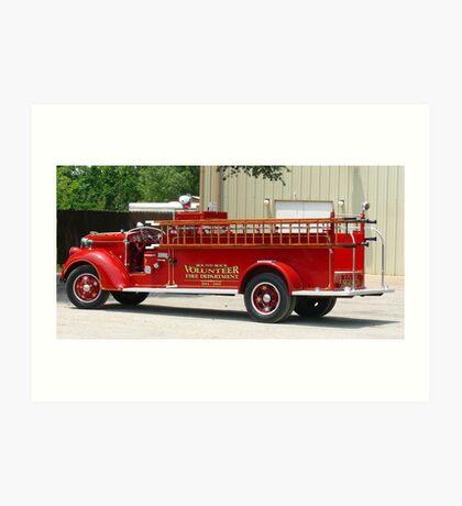 Round Rock Volunteer Fire Department Engine 7 Art Print