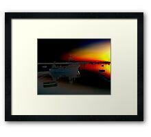 sailing into the fire Framed Print
