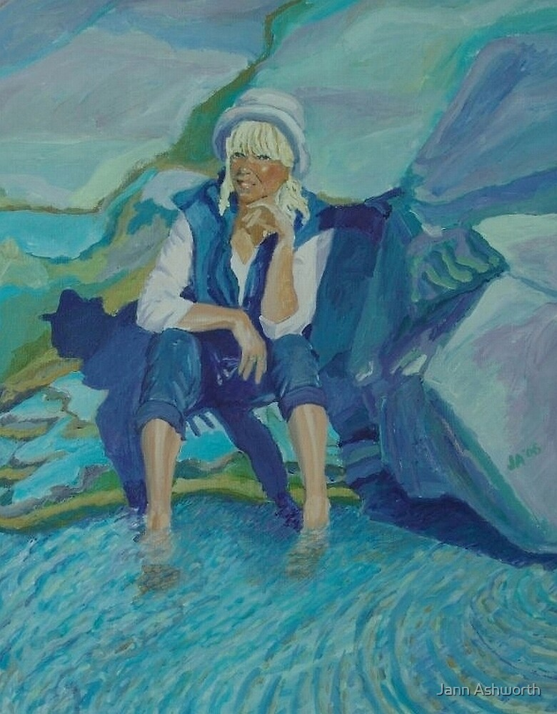 Self Portrait/Peggy's Cove, Nova Scotia by Jann Ashworth