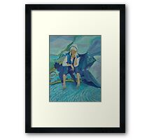 Self Portrait/Peggy's Cove, Nova Scotia Framed Print