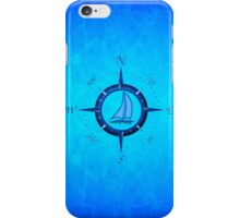 Sailboat And Compass Rose iPhone Case/Skin