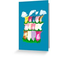 tulips and clouds Greeting Card