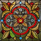 Stained Glass Window Detail by Bonnie T.  Barry