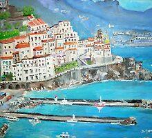 The village of Atrani by Teresa Dominici