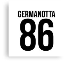 'GERMANOTTA 86'  Canvas Print