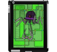 Robotic Bowler Hat - stained glass villains iPad Case/Skin