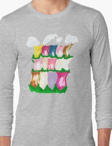 tulips and clouds Long Sleeve T-Shirt