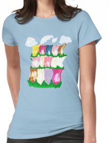 tulips and clouds Womens Fitted T-Shirt