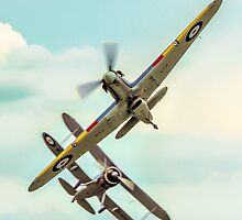 Sea Hurricane and Gladiator break by Colin Smedley