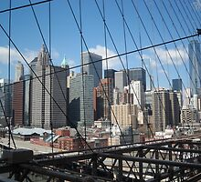 New York View From Brooklyn Bridge by klause9