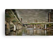 Dojima bridges Canvas Print