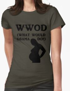 WWOD (What Would Obama Do?) Womens Fitted T-Shirt