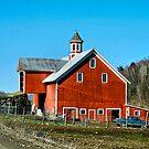 Franklin Spring Barn by Deborah  Benoit