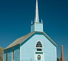 Blue Church, Augusta Township, on Highway 2, between Prescott and Brockville, Ontario. by Mike Oxley