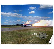 fire breathing jet semi Poster