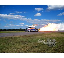 fire breathing jet semi Photographic Print