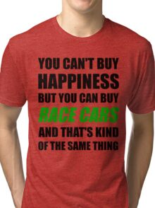 You Can't Buy Happiness But You Can Buy Race Cars Tri-blend T-Shirt