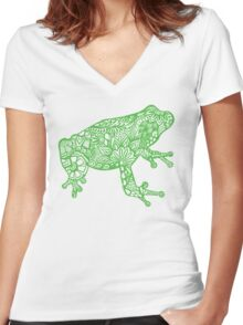 Frogg Women's Fitted V-Neck T-Shirt