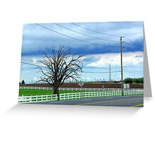 Lonely Farm Greeting Card
