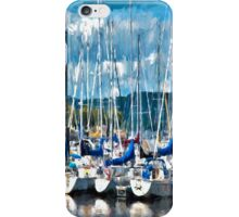 Sailboats Painted iPhone Case/Skin