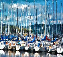 Sailboats Painted by Gypsykiss