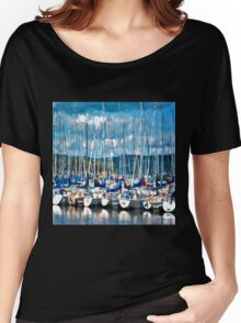 Sailboats Painted Women's Relaxed Fit T-Shirt