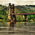 Wheeling Suspension Bridge WV by Kate Adams