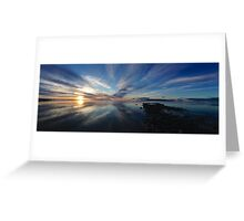 Sunset on the Great Salt Lake Greeting Card