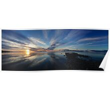 Sunset on the Great Salt Lake Poster