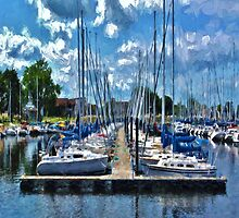 Sailboats Painted 2 by Gypsykiss