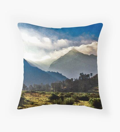 Nichols Peak Sunrise Throw Pillow