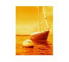 Golden Sailboat Art Print