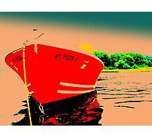 Bright Orange/Red Bow Photographic Print