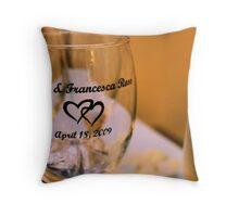 wedding cups Throw Pillow