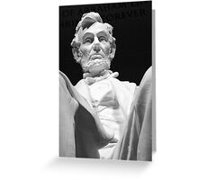 Abe Greeting Card