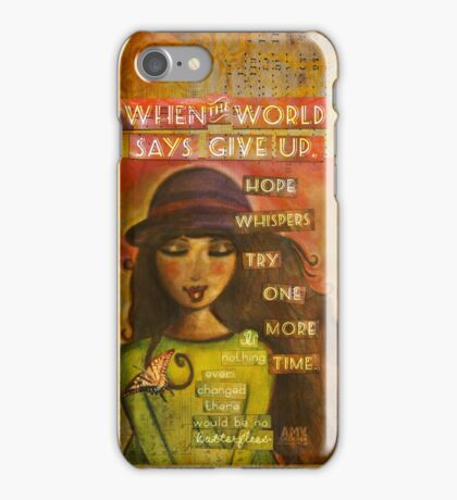 hope whispers iPhone Case/Skin