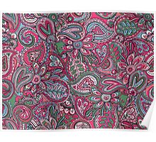 Valentines Paisley - pink Poster