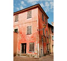 Derelict Red Building in Caorle Photographic Print