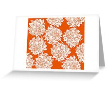 flower (orange) Greeting Card