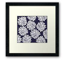 flower (purple) Framed Print
