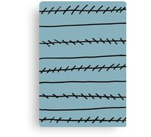 Jagged Lines Canvas Print