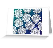 flower (blue-green) Greeting Card