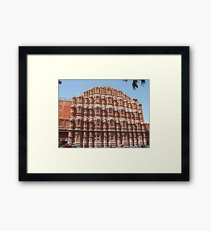 Hawa Mahal, Jaipur landmark, Rajesthan, India Framed Print