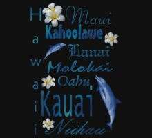 Hawaiian Islands T Shirt by Lisa  Weber