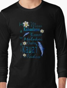 Hawaiian Islands T Shirt Long Sleeve T-Shirt