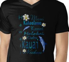 Hawaiian Islands T Shirt Mens V-Neck T-Shirt