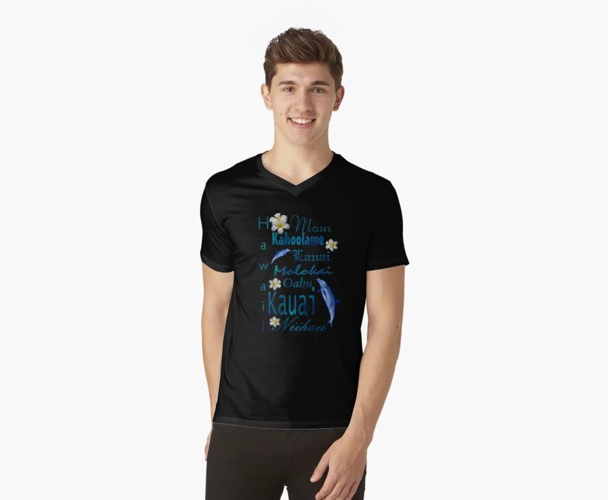 Hawaiian Islands T Shirt by Lisa  Weber