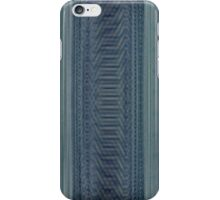Blue digital embroidery iPhone Case/Skin