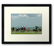 Waiting for the Shuttle Framed Print
